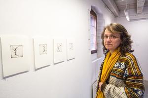 Lina Nordenström i Grafikrummet på Galleri Astley