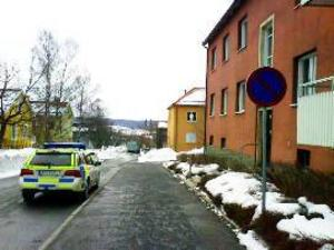 Polisbil på Fagervallsgränd.Foto: Tips