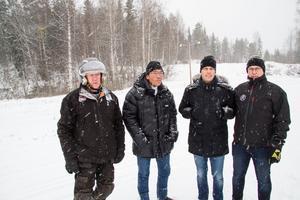 Frasse Lundberg, Lars Holm, Fredrik Persson och Leif Eriksson