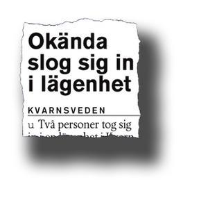 Ur Borlänge Tidning torsdag 31 maj 2007.