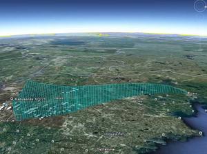På Google Earth kunde forskarna följa ballongens färd. Här ser man exakt hur den flög innan den kraschade.