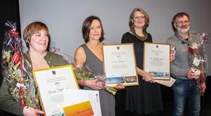Fjolårets vinnare: Annica Andersson, Bräcke Motorklubb, Camilla Bruman och Margareta och Björn Jonsson.