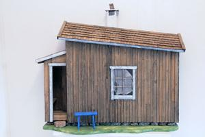 Leif gör även husskulpturer.