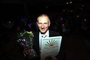 Ola Andersson tog emot priset som årets företagare i Härjedalen. Han har tillsammans med sin far Jan byggt upp Lofsdalens fjällanläggningar.