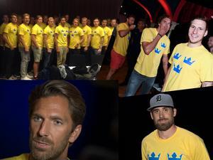 Louie Eriksson, Alexander Steen, Henrik Lundqvist och lagkaptenen i World Cup-laget 2016: Henrik Zetterberg.