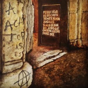 Målning av Gävlekonstnären Peter Endahl, motiv från Benchite i Spanien.
