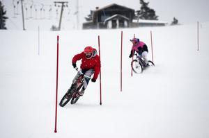 Specialdäck med extra stora dubb gör det möjligt att träna i slalombcken.