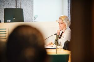 Den åtalade bloggaren och hennes advokat Pia Björstrand.