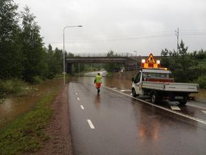 Översvämning i Källviken i Falun.