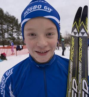 I klassen H 11-12 var Kalle Georgsson, Högbo GIF, snabbast av alla.