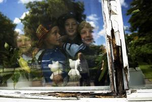 Eftersatt underhåll. Flera skolor behöver rustas. Här, vid Gylle skola, riskerar fönstren att rasa ut.