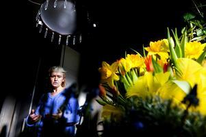 Påskfint med blommor som passar både ute och inne gör den hängivna amatörträdgårdsmästaren Ulla Folkerud och bjuder Pralins läsare på vårliga tips från sitt eget hem. Foto:Johan Solum