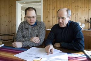 Utmaningen kräver lite planering, men Henrik Numelin och Bror Erikson hoppas på framgång.