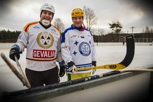 Stefan Skeppar och Allan Johansson invigde Brynäsvallens forna isrink.