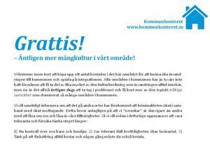 Brevet som Svenskarnas parti skickade ut till invånare i Lit och Lugnvik.