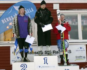 Jonas Nyberg, Järvsö, vann herrtävlingen bägge dagarna.