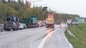Trafikolycka på E18