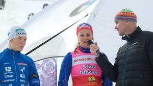 Stina Nilsson intervjuas efter segern.
