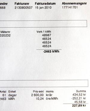 Det gäller att granska elräkningarna noga och rapportera om avvikelser. Enligt Jämtkraft är det kunden som har ansvar för att det ska stämma.