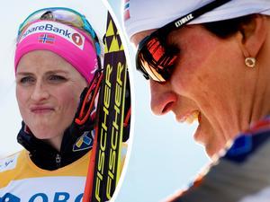 Therese Johaug föll på träning - igen. Samtidigt kämpar Marit Björgen mot skadebekymmer.