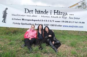 Bitti Alvin, Kilafors herrgård, Jonas Otter och Åsa Jinder ser fram emot sommarens skådespel i herrgårdsparken.