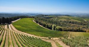 Res i Toscana längs den klassiska Chiantivägen, med vackra vingårdar och rustika restauranger.