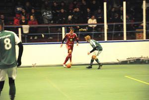 Edsbyns nyförvärv Johan Sköld gjorde två mål mot Hällbo.