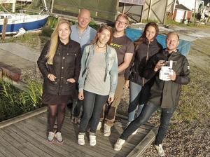 Seglargänget. Sanna Alatalo, Dennis Sevelin, Henna Koskela, Rickard Sand, Elin Fors och Oskar Karlsson.