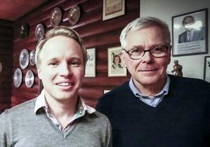 Henrik Boström, VD för O-ringen AB, och Lars Sahlén, ordförande i J/H:s orienteringsförbund.