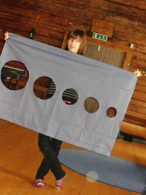 Carolina Ekström från Bruksvallarna tillverkade en måltavla för pilbåge.