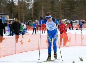 Moa Molander-Kristiansen höll undan och vann Grönklittsjakten i klassen D-17-18. Foto: Gunnar Bäcke/DT