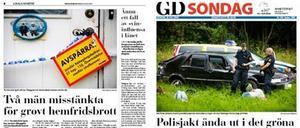 Ur Gefle Dagblad i fredags respektive i söndags
