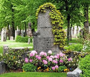 Ernst Petterssons familjegrav.