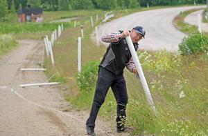 Bengt Eriksson upptäckte på måndagsmorgonen att hans hästgård blivit utsatt för vandalisering.