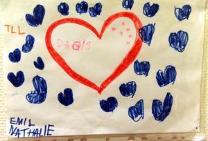 En avskedsteckning från ett barn som slutat på förskolan.