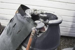 Gasolvärmaren exploderade hemma hos Calle Norin i Bollnäs.