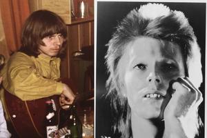 Till vänster i bilden syns undertecknad som 20-åring vid tiden för mötet med Bowie. Bilden på Bowie är en arkivbild från samma år.