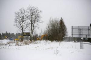 Här vid västra infarten till Undersåker ska XL Byggs nya bygghandel växa upp.