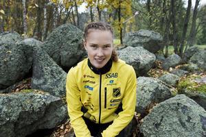 Tove Alexandersson är den enda landslagslöpare till start på damsidan i ultralångdistans-SM i Lekhyttan på lördag, och kan ta sitt 16:e SM-guld i orientering där (arkivfoto).