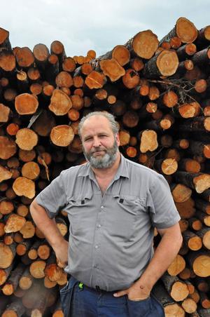 Peter Mark är produktionsansvarig för sågverket i Gällö.
