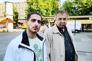 Zerdasht Ebrahim och Abdullah Kaya från Mezopotamya Kulturförening.