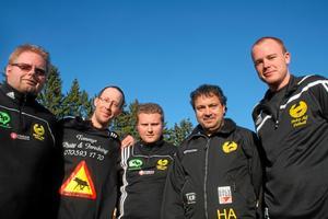 Ledargänget. HAIF:s ledare 2010: Från vänster: Anders Lind, Patrik Fahlström, Henrik Alriksson, Peter Peltekis och Niklas Andersson.  Foto: Niclas Bergwall
