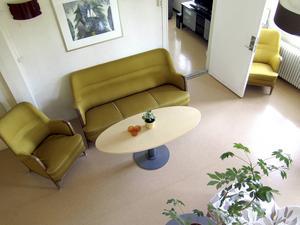 Mix av möbler.