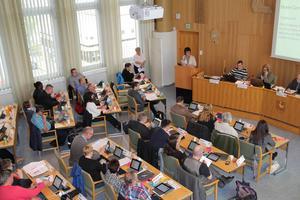 Delar av kommunfullmäktige  i Bollnäs  i maj 2015.