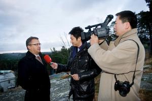 Kinesiska journalister från Wuxi på besök i Södertälje.
