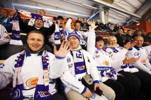 Ryska fansen har rest ända från Sibirien för att heja fram sitt favoritlag.