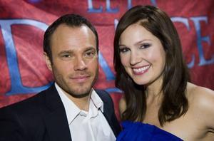 David Hellenius och Jessica Almenäs leder