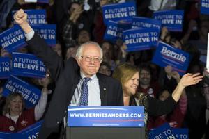 Bernie Sanders, senator från Vermont, är en av kandidaterna i Demokraternas primärval. Foto: J. David Ake/AP