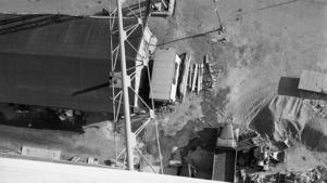 Mellersta silon byggs 1959. Bild från taket.