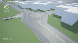 Den nya rondellen ner mot Norra kajen kommer att se ut så här.